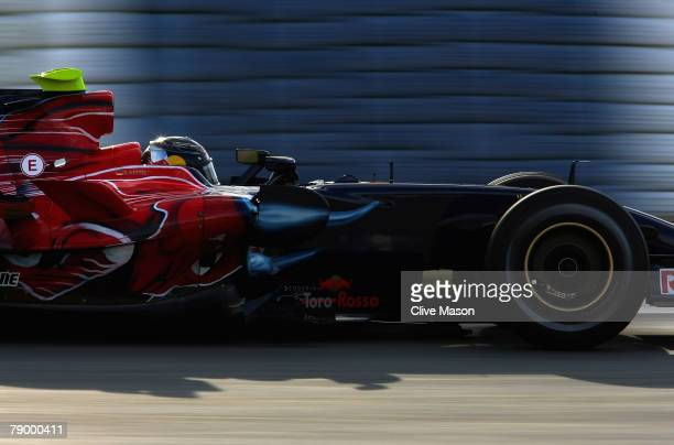 Sebastian Vettel of Germany and Torro Rosso in action during a test at the Circuito de Jerez on January 15 in Jerez de la Frontera Spain