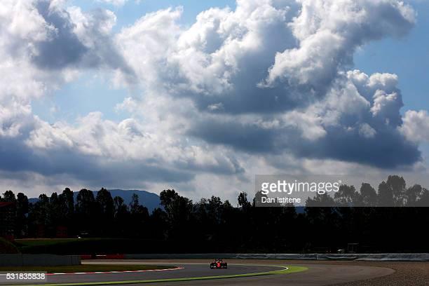 Sebastian Vettel of Germany drives the Scuderia Ferrari SF16H Ferrari 059/5 turbo during day one of Formula One testing at Circuit de Catalunya on...