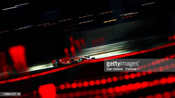 Sebastian Vettel of Germany driving the Scuderia Ferrari SF1000 during practice ahead of the F1 Grand Prix of Sakhir at Bahrain International Circuit...