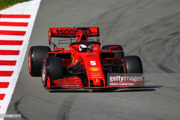 Sebastian Vettel of Germany driving the Scuderia Ferrari SF1000 on track during day five of F1 Winter Testing