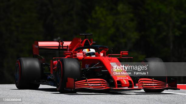 Sebastian Vettel of Germany driving the Scuderia Ferrari SF1000 on track during practice for the F1 Grand Prix of Styria at Red Bull Ring on July 10,...