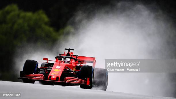 Sebastian Vettel of Germany driving the Scuderia Ferrari SF1000 on track during qualifying for the Formula One Grand Prix of Styria at Red Bull Ring...