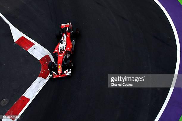 Sebastian Vettel of Germany driving the Scuderia Ferrari SF16H Ferrari 059/5 turbo on track during qualifying for the European Formula One Grand Prix...