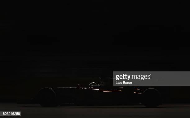 Sebastian Vettel of Germany driving the Scuderia Ferrari SF16-H Ferrari 059/5 turbo on track during qualifying for the Formula One Grand Prix of...
