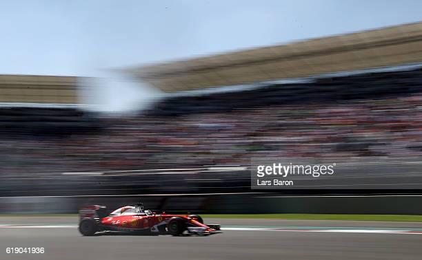 Sebastian Vettel of Germany driving the Scuderia Ferrari SF16H Ferrari 059/5 turbo on track during qualifying for the Formula One Grand Prix of...