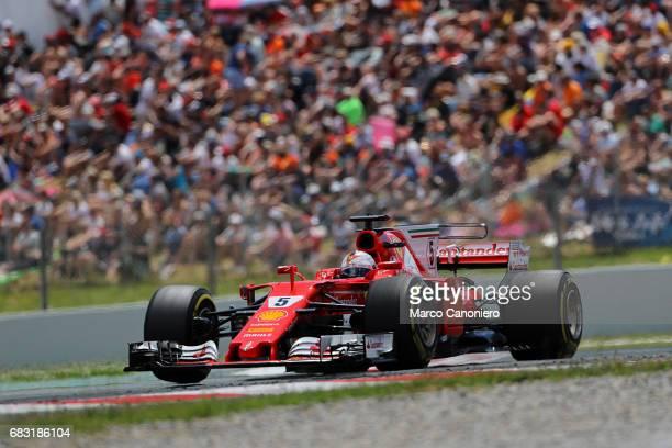 DE CATALUNYA MONTEMELò BARCELONA SPAIN Sebastian Vettel of Germany driving the Scuderia Ferrari SF70H on track during the Spanish Formula One Grand...