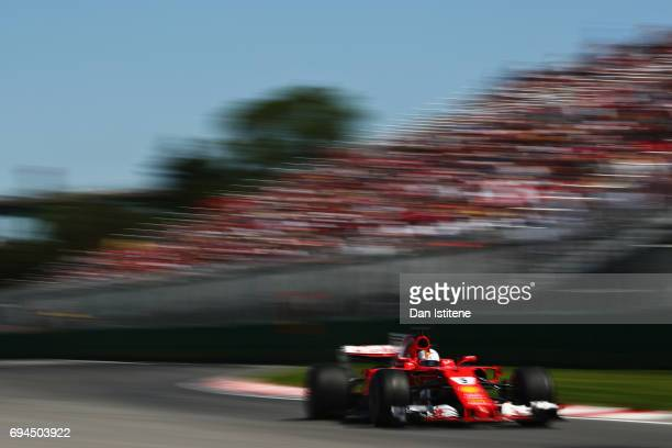 Sebastian Vettel of Germany driving the Scuderia Ferrari SF70H on track during final practice for the Canadian Formula One Grand Prix at Circuit...