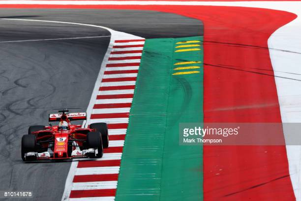 Sebastian Vettel of Germany driving the Scuderia Ferrari SF70H on track during practice for the Formula One Grand Prix of Austria at Red Bull Ring on...
