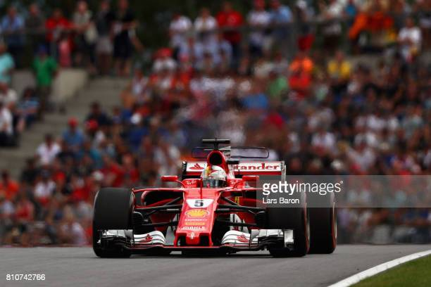 Sebastian Vettel of Germany driving the Scuderia Ferrari SF70H on track during qualifying for the Formula One Grand Prix of Austria at Red Bull Ring...