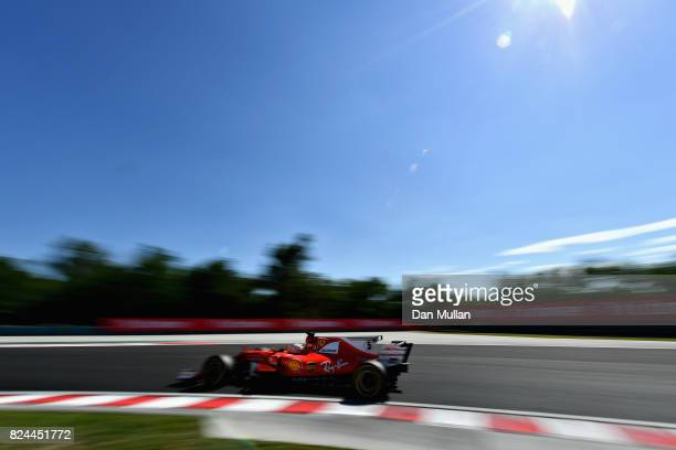 Sebastian Vettel of Germany driving the Scuderia Ferrari SF70H on track during the Formula One Grand Prix of Hungary at Hungaroring on July 30 2017...
