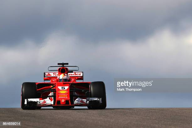 Sebastian Vettel of Germany driving the Scuderia Ferrari SF70H on track during final practice for the United States Formula One Grand Prix at Circuit...
