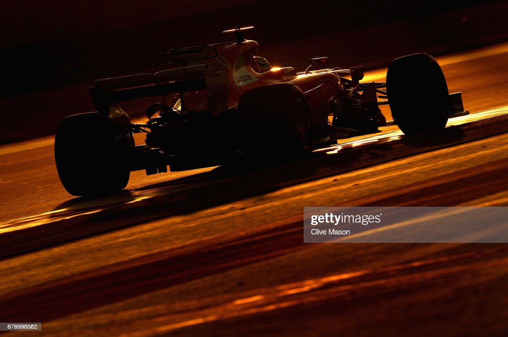 Sebastian Vettel of Germany driving the (5) Scuderia Ferrari SF70H on track during qualifying for the Abu Dhabi Formula One Grand Prix at Yas Marina Circuit on November 25, 2017 in Abu Dhabi, United Arab Emirates.