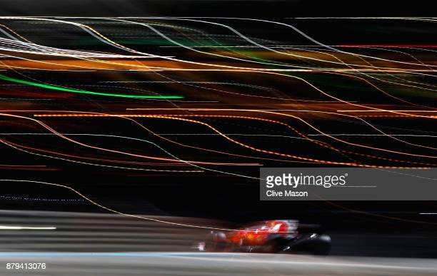 Sebastian Vettel of Germany driving the Scuderia Ferrari SF70H on track during the Abu Dhabi Formula One Grand Prix at Yas Marina Circuit on November...