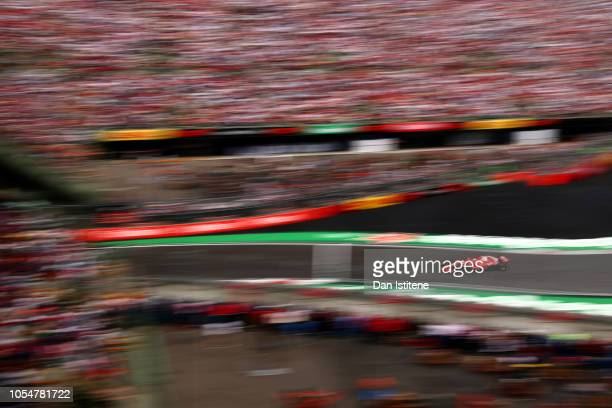 Sebastian Vettel of Germany driving the Scuderia Ferrari SF71H during the Formula One Grand Prix of Mexico at Autodromo Hermanos Rodriguez on October...