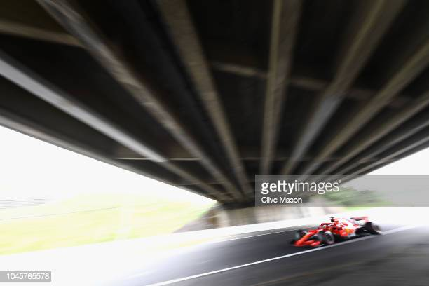 Sebastian Vettel of Germany driving the Scuderia Ferrari SF71H on track during practice for the Formula One Grand Prix of Japan at Suzuka Circuit on...