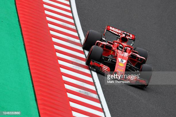 Sebastian Vettel of Germany driving the Scuderia Ferrari SF71H on track during final practice for the Formula One Grand Prix of Japan at Suzuka...