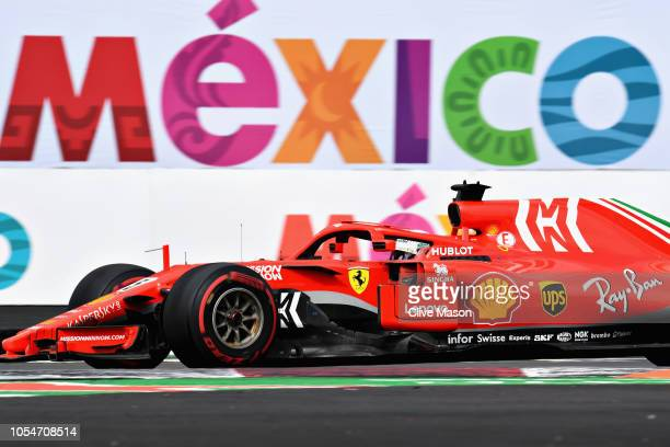 Sebastian Vettel of Germany driving the Scuderia Ferrari SF71H on track during the Formula One Grand Prix of Mexico at Autodromo Hermanos Rodriguez...
