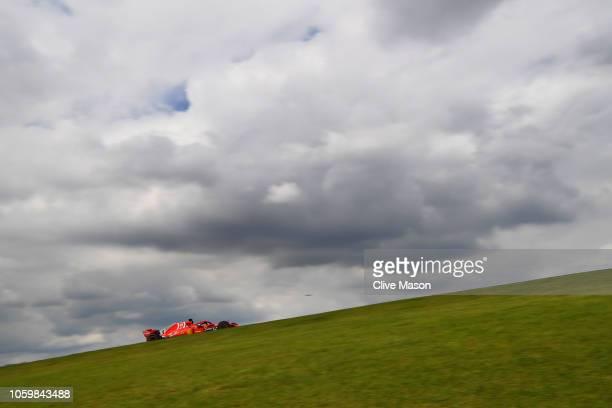 Sebastian Vettel of Germany driving the Scuderia Ferrari SF71H on track during final practice for the Formula One Grand Prix of Brazil at Autodromo...