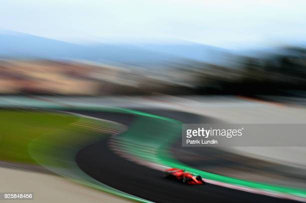 Sebastian Vettel of Germany driving the Scuderia Ferrari SF71H on track during day four of F1 Winter Testing at Circuit de Catalunya on March 1 2018...