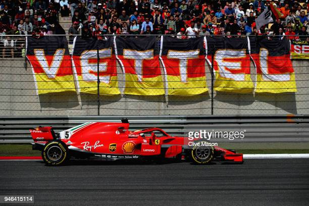 Sebastian Vettel of Germany driving the Scuderia Ferrari SF71H on track during the Formula One Grand Prix of China at Shanghai International Circuit...