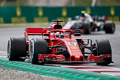montmelo spain sebastian vettel germany driving