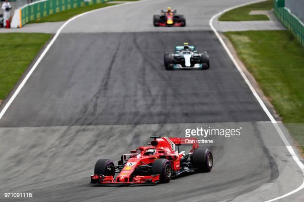 Sebastian Vettel of Germany driving the Scuderia Ferrari SF71H on track during the Canadian Formula One Grand Prix at Circuit Gilles Villeneuve on...