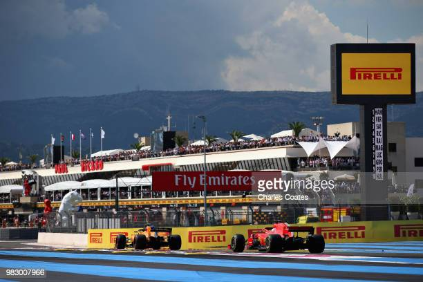 Sebastian Vettel of Germany driving the Scuderia Ferrari SF71H on track during the Formula One Grand Prix of France at Circuit Paul Ricard on June...