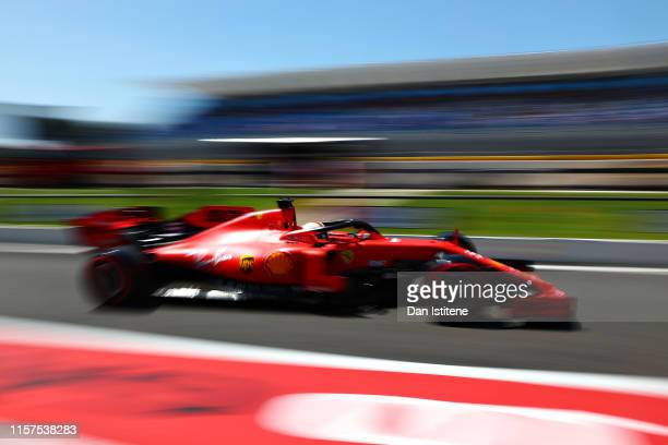 Sebastian Vettel of Germany driving the Scuderia Ferrari SF90 in the Pitlane during final practice for the F1 Grand Prix of France at Circuit Paul...