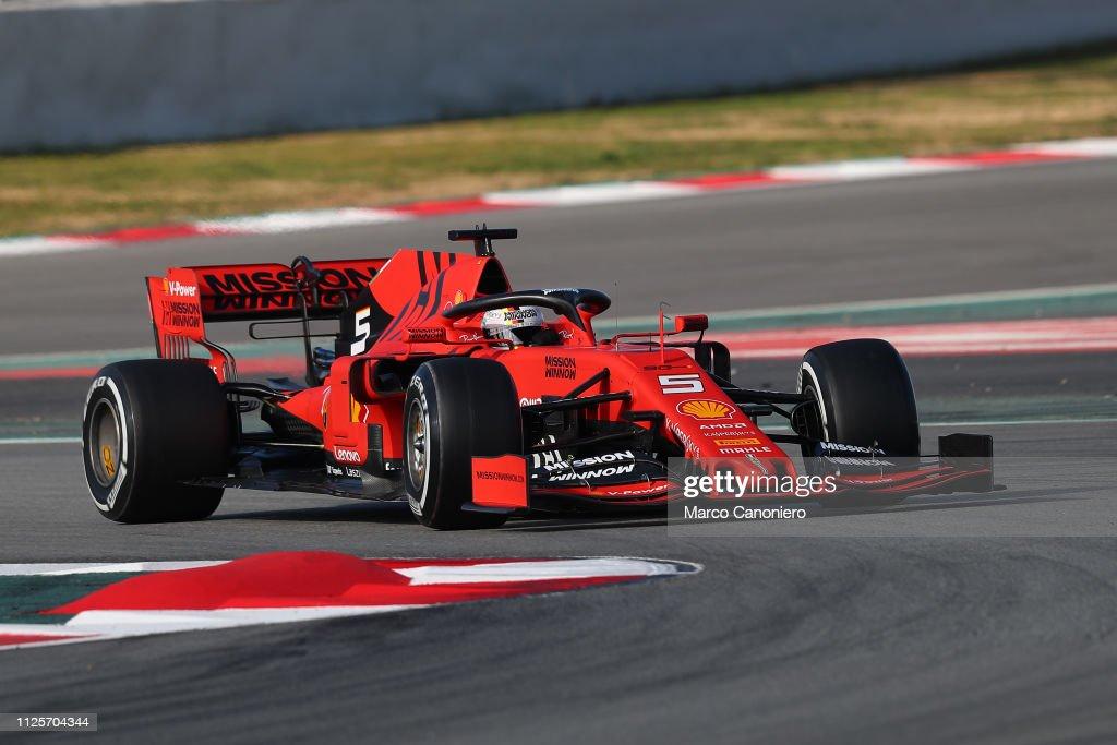 Sebastian Vettel of Germany driving the (5) Scuderia Ferrari...   News 4b74f42eaf57