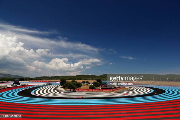 Sebastian Vettel of Germany driving the Scuderia Ferrari SF90 on track during practice for the F1 Grand Prix of France at Circuit Paul Ricard on June...