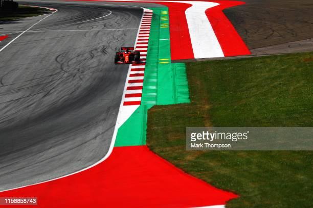 Sebastian Vettel of Germany driving the Scuderia Ferrari SF90 on track during practice for the F1 Grand Prix of Austria at Red Bull Ring on June 28...