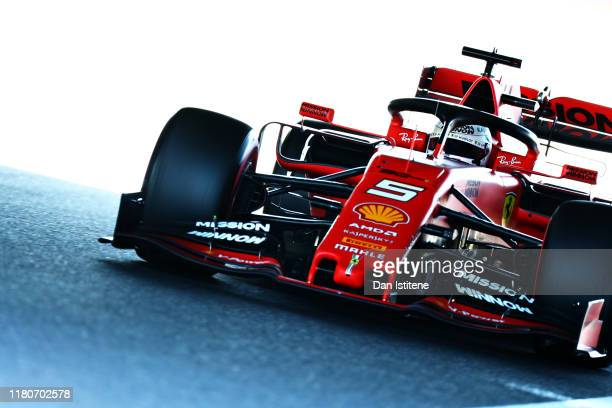 Sebastian Vettel of Germany driving the Scuderia Ferrari SF90 on track during qualifying for the F1 Grand Prix of Japan at Suzuka Circuit on October...