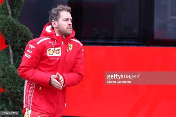 CATALUNYA MONTMELò BARCELONA SPAIN Sebastian Vettel of Scuderia Ferrari during day two of F1 Winter Testing
