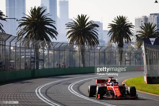 Sebastian VETTEL of Scuderia Ferrari Mission Winnow drives in the 2019 Formula 1 Australian Grand Prix