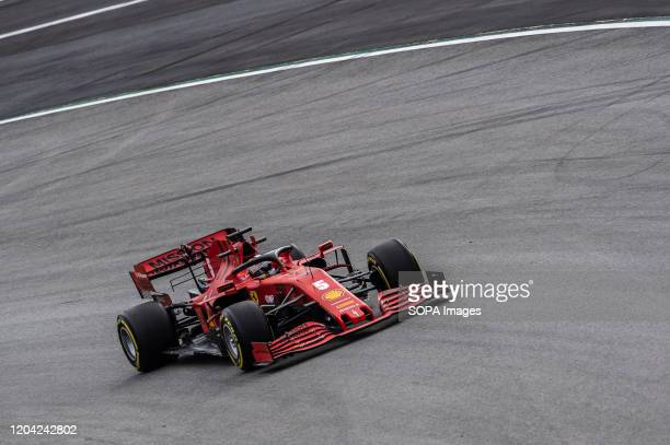 Sebastian Vettel participates in the tests for the new season of the Formula One Grand Prix at the Circuit de Catalunya in Montmelo