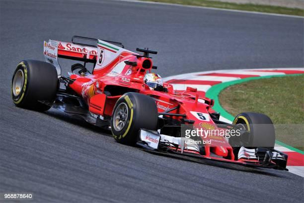 Sebastian Vettel, Scuderia Ferrari, formula 1 GP, Spanien in Barcelona Photo:mspb/Fabian Werner