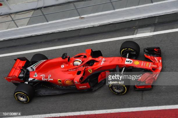 Sebastian Vettel Scuderia Ferrari formula 1 GP Test Barcelona Spanien