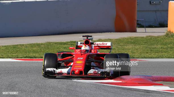 Sebastian Vettel, Scuderia Ferrari, formula 1 GP, Test Barcelona, Spanien,