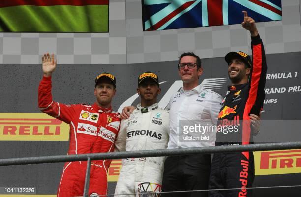 Sebastian Vettel Scuderia Ferrari Lewis Hamilton Mercedes Grand Prix Daniel Ricciardo Red Bull Racing formula 1 GP Belgien in Spa