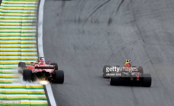 Sebastian Vettel Scuderia Ferrari Max Verstappen Red Bull Racing formula 1 GP Brasilien in Sao Paulo/Interlagos