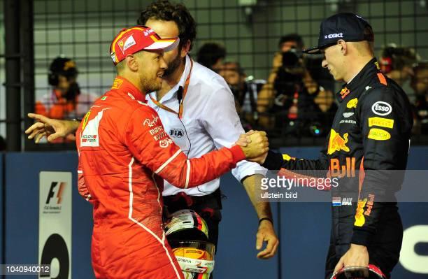 Sebastian Vettel Scuderia Ferrari Max Verstappen Red Bull Racing formula 1 GP Singapore