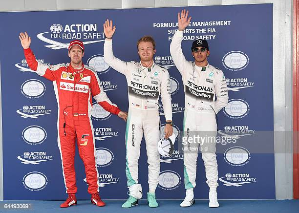 Sebastian Vettel, Scuderia Ferrari, Nico Rosberg; Pole, Lewis Hamilton; Mercedes Grand Prix, formula 1 GP, Spanien in Barcelona