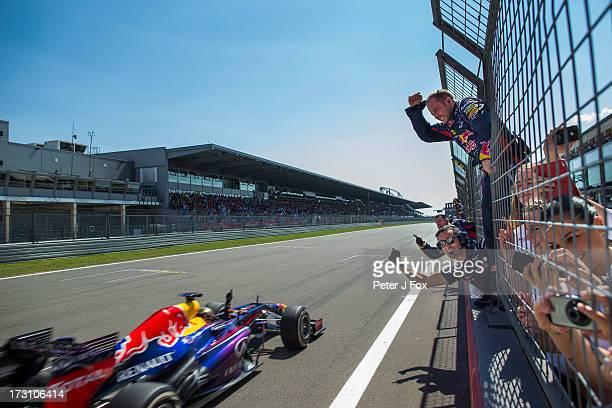 Sebastian Vettel Wins the German Grand Prix at the Nuerburgring on July 7, 2013 in Nurburg, Germany.