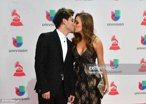 Sebastian Villalobos and Maria Laura attend the 18th Annual Latin Grammy Awards at MGM Grand Garden Arena on November 16 2017 in Las Vegas Nevada