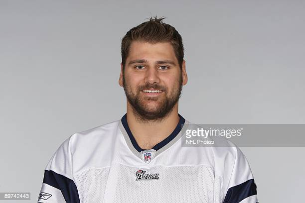 Sebastian Vollmer of the New England Patriots poses for his 2009 NFL headshot at photo day in Foxborough Massachusetts