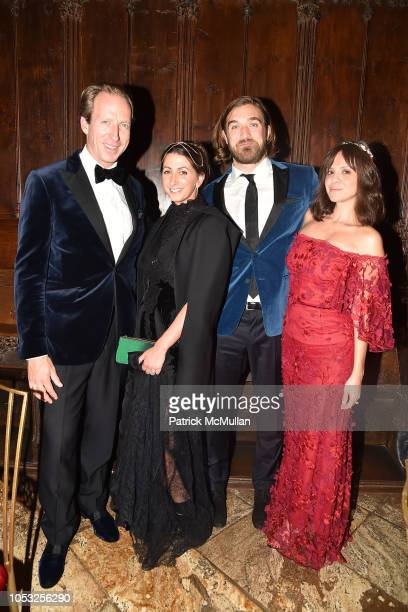 Sebastian Vos Jamie Braverman Ben Berube and Michelle Randolph attend Hearst Castle Preservation Foundation Hollywood Royalty Dinner at Hearst Castle...