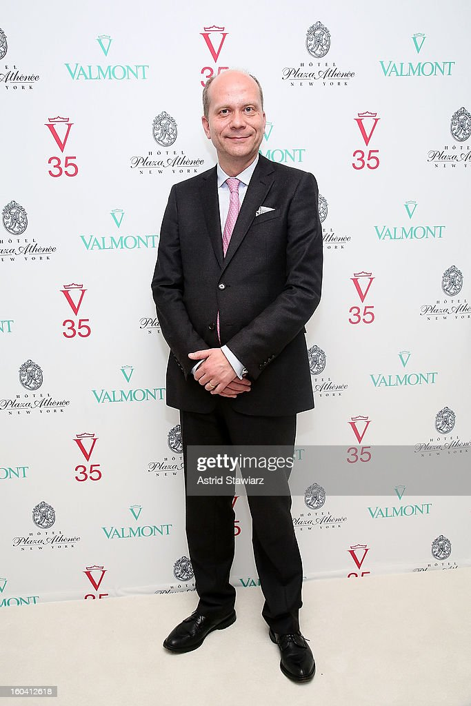 Sebastian Wurst, Manager of the Hotel Plaza Athenee attends the V35 Valmont SPA Launch Event at Plaza Athenee on January 30, 2013 in New York City.