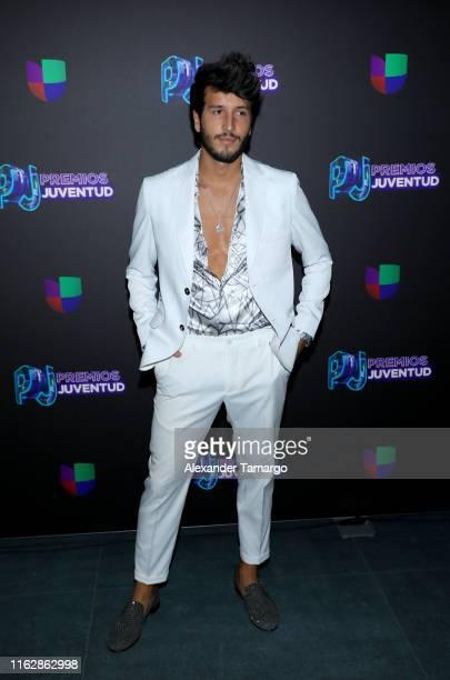 Sebastian Yatra attends Premios Juventud 2019 at Watsco Center on July 18 2019 in Coral Gables Florida