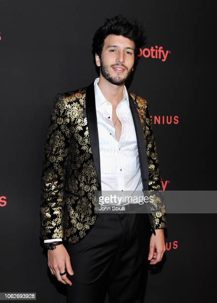 Sebastian Yatra attends Spotify's Secret Genius Awards hosted by NEYO at The Theatre at Ace Hotel on November 16 2018 in Los Angeles California