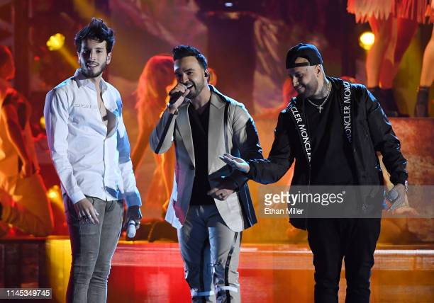 Sebastian Yatra Luis Fonsi and Nicky Jam perform during the 2019 Billboard Latin Music Awards at the Mandalay Bay Events Center on April 25 2019 in...